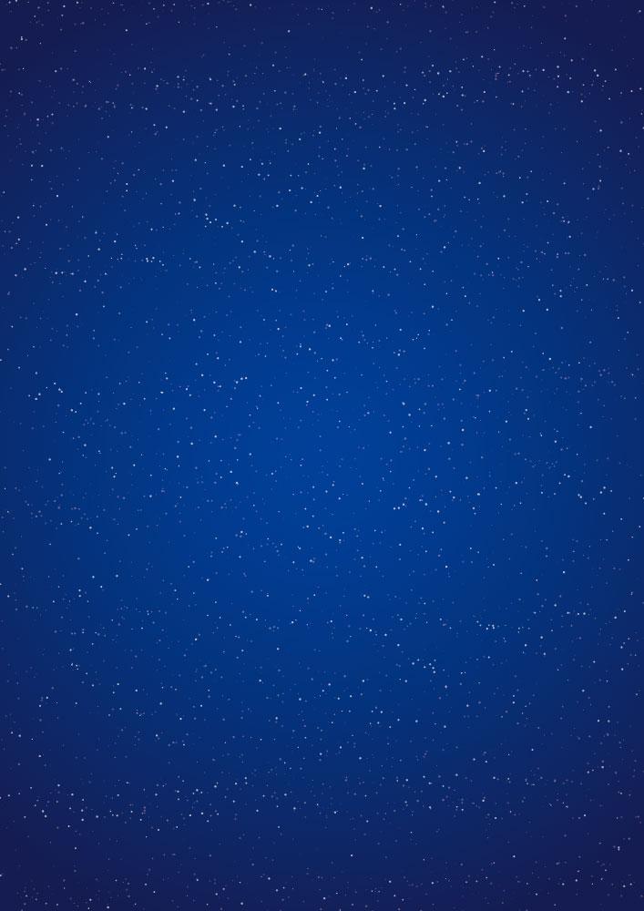 散布ブラシで書いた星空